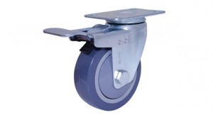 03 Grey PU Swivel Double Brake