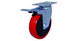 03 PU Swivel Double Brake