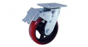 07 Mold-On PU Swivel Double Brake